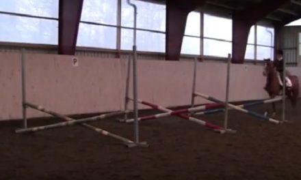 Gymnastik med bommar och hinder